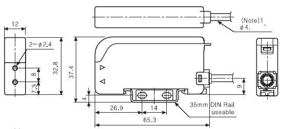 对射型光电传感器接线图.