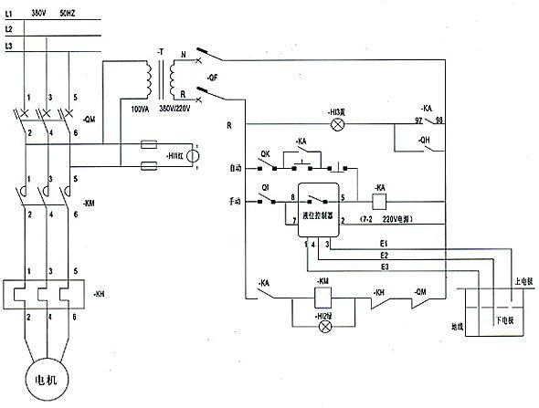 污水泵控制箱的接线及原理